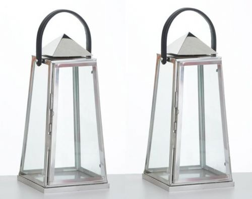 Pyramid Style Lantern (Set of 2)